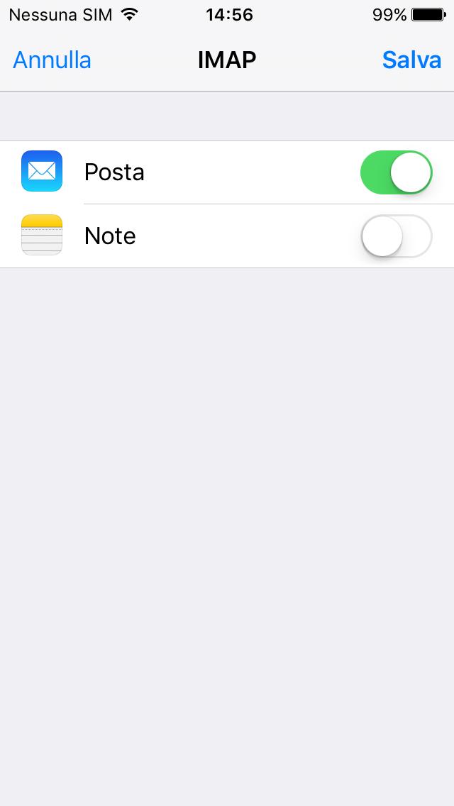 Configurare il nostro sistema email su iphone - Porta server alice iphone ...