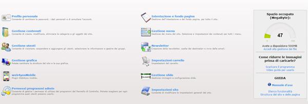 sito web formato modulare alessandria milano torino genova